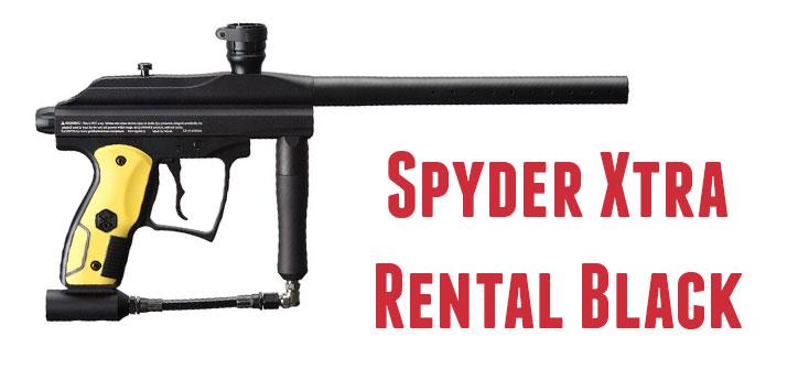 Markery Spyder Xtra Rental Black, Jest to marker lżejszy, dobrej jakości oraz celności. Karabinek przeznaczony dla młodszych oraz kobiet, które będą mogły skuteczniej rywalizować z Panami na naszym poligonie.